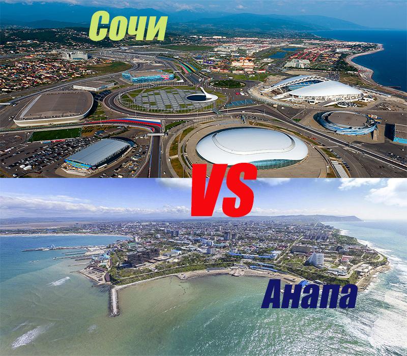 Сравнение цен на недвижимость в Анапе и Сочи
